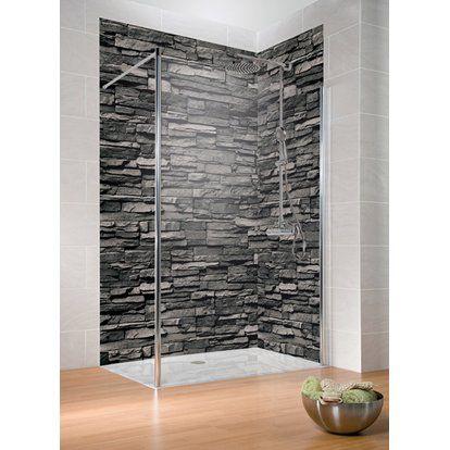 Schulte Duschruckwand Decodesign Dekor Stein Verblender Anthrazit 210 X 100 Cm Kaufen Bei Obi Duschruckwand Verblender Dusche