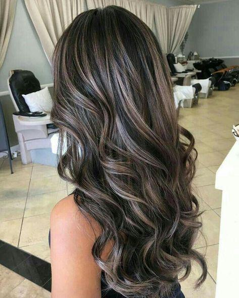 Brunette Hair Cuts, Brown Blonde Hair, Ash Blonde Balayage Dark, Balayage Brunette, Ash Brunette, Brunette Hair Colour, Dark Hair Balyage, Grey Ash Blonde, Bayalage