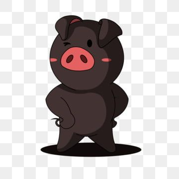 Cute Cartoon With Love Pig Pig Clipart Q Version Cartoon Png And Vector With Transparent Background For Free Download Cartoon Pig Vector Cartoons Png