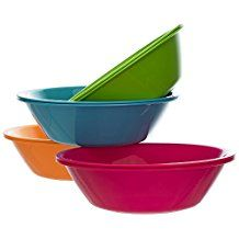 Metro 28 Ounce Plastic Cereal Soup Bowls Set Of 8 In 4 Assorted Colors Plastic Bowls Soup Bowl Set Bowl