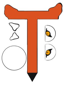 Letter Art Templates: T is for Tiger~ Uppercase | MDO