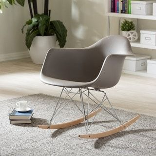 Vinnie Small White Cradle Chair Rocking Chair Mid Century Modern Rocking Chair Small Rocking Chairs