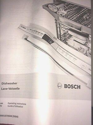 Sponsored Link Bosch Operating User Guide Manual Instructions Dishwasher 9001070946 9504 In 2020 Bosch Dishwasher Installation Bosch Dishwashers