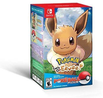 Amazon Com Pokemon Let S Go Eevee Poke Ball Plus Pack Nintendo Switch Nintendo Of America Video Games Pokemon Eevee Pokemon Eevee