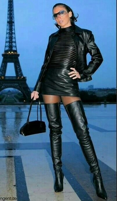 Pin on #black.leather.skirts