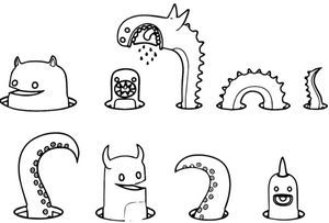 Worm Coloring Page Monster Coloring Pages Coloring Pages