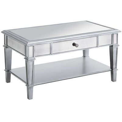 Hayworth Mirrored Silver Coffee Table 349 99 Pier 1 Coffee