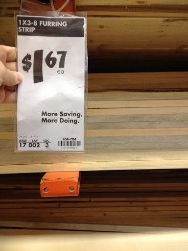 1x3 8 Furring Strip From Home Depot