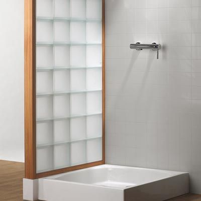 Mettons des briques de verre dans la salle de bains Bathroom