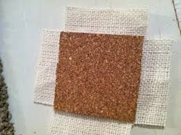 "DIY Coasters :: Just wrap and glue some burlap onto cork coasters form the 99c store or buy a roll of cork mat and cut it into 4"" squares."