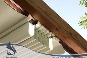 دیتیل سقف متحرک برقی Retractable Pergola Pergola Clothes Hanger