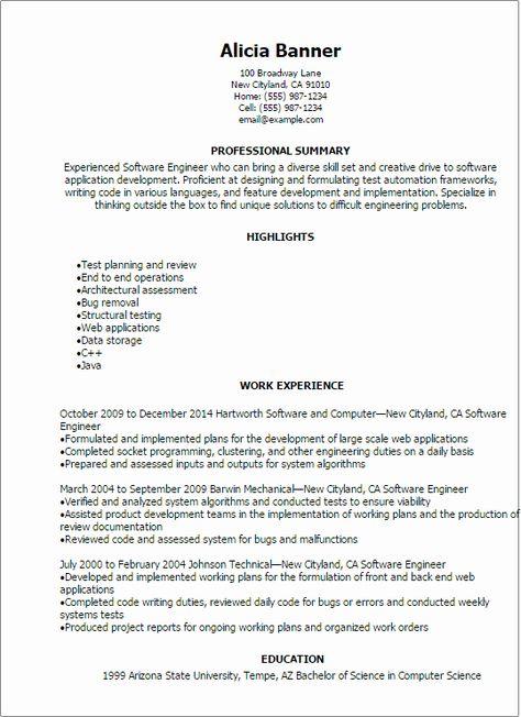 Entry Level Software Developer Resume Awesome Resume Template Software Engineer Resume Software Engineering Resume Engineering Resume Templates