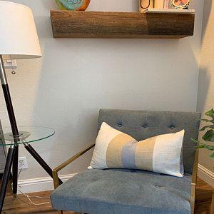 Light Gray Cotton and linen Pillow