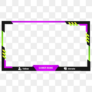 Screen Twitch Overlay Purple Green Lime Internet Design Twitch Png Transparent Clipart Image And Psd File For Free Download Overlays Youtube Banner Template Gaming Banner