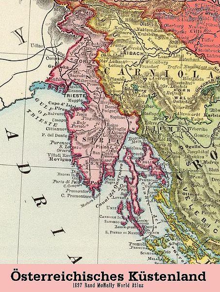 Osterreichisches Kustenland 1897 Landkarte Osterreich