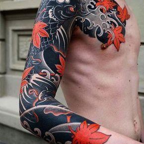 Japanese Tattoo Sleeve By Slavastarkov Japaneseink Japanesetattoo Irezumi Tebori Colortattoo Colorfultattoo Cooltat Irezumi Japan Tattoo Yakuza Tattoo