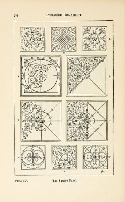 A Handbook of Ornament by Franz Sales Meyer.  In the public domain online at Open Library. Three thousand illustrations of designs.