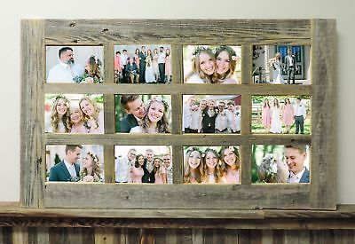 New Rustic Farmhouse Barnwood Reclaimed Multi 12 Picture 4x6 Frame Collage Decor With Images Picture Frame Crafts Window Pane Picture Frame Wood Picture Frames Diy