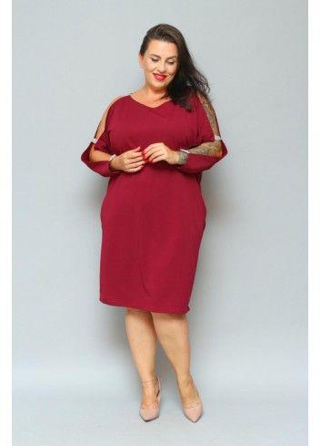 Sukienka Oversize Z Cekinami Gladka Plus Size Rozmiar 46 Kolor Zloty Dresses For Work Fashion Dresses
