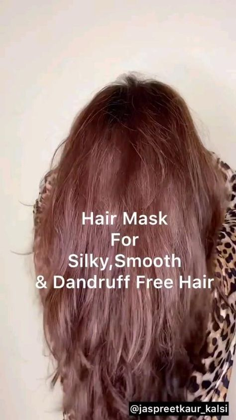 hair mask for silky smooth and dandruff free hair
