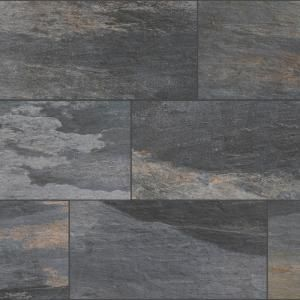 Florida Tile Longitude Slate Grey 12 In X 24 In Porcelain Floor And Wall Tile 15 5 Sq Ft Case Cfnd9 With Images Porcelain Flooring Slate Wall Tiles Grey Slate Tile