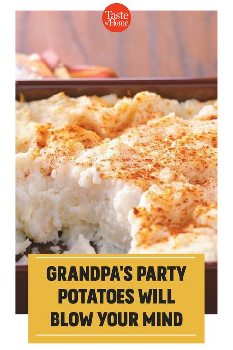 My grandpa, who gave me this recipe, liked the way the cream cheese and onion dip created a wonderful velvety texture. I often assemble these potatoes the night before, then pop them in the oven the next day. —Mary Kay Elert, St. Paul Park, Minnesota