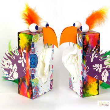 Schnuffl Papagei Spenderbox Recyceln Coole Basteleien Fasching