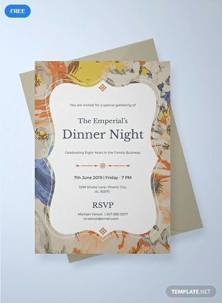 Formal Dinner Invitation Template Free Pdf Word Doc Psd Apple Mac Pages Illustrator Publisher Outlook Invitation Template Party Invite Template Event Invitation Templates
