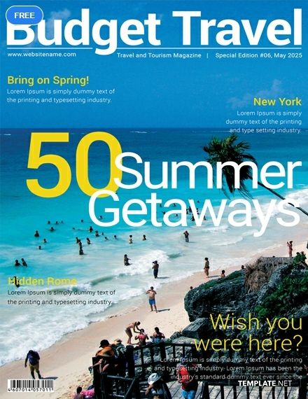 Free Travel Magazine Cover Travel Magazines Magazine Cover Template Free Travel
