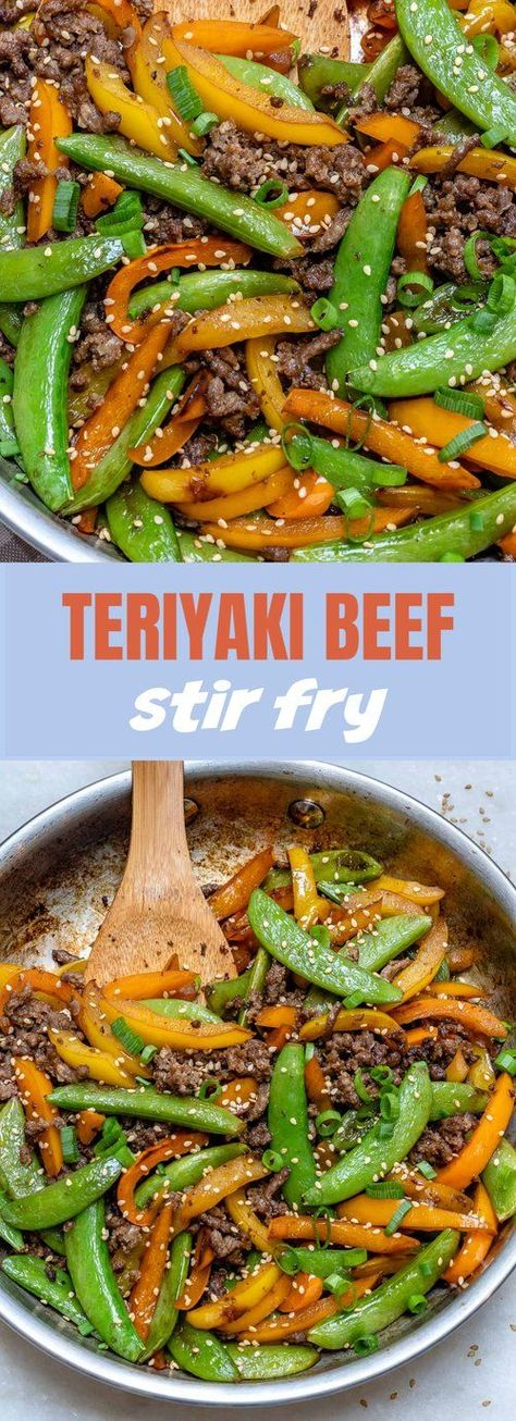 #Beef #Clean #Clean Eating Meals Beef #Eating #Fry #Meal #Prep #Stir #teriyaki Teriyaki Beef Stir Fry for Clean Eating Meal Prep!