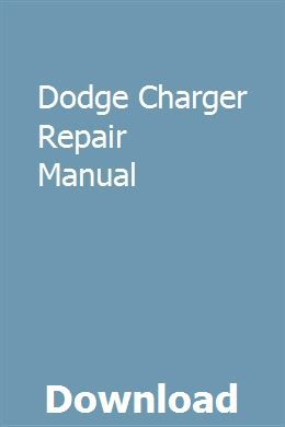 Dodge Charger Repair Manual Repair Manuals Chilton Repair Manual Sewing Machine Repair Manuals