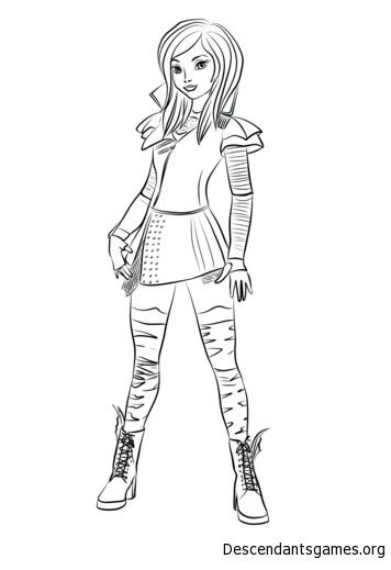 Pin By Jojofreya1 On Fall Break Ideas Descendants Coloring Pages Disney Descendants Mal Coloring Pictures