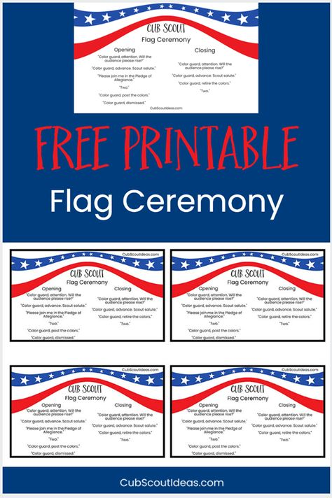 picture relating to Cub Scout Flag Ceremony Printable named Listing of Pinterest cubscout printables photos Pinterest