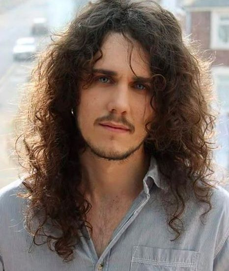Middle Part Hairstyle Long Curly Hair Men Picture Long Hair Styles Men Curly Hair Styles Long Hair Styles