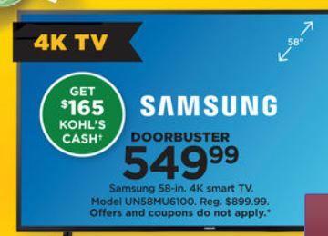 58 Inch Samsung Tv Kohls 50 Inch Led Tv Black Friday Deals Black Friday Tv Deals Black Friday Tv Black Friday