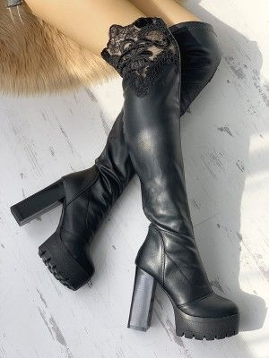 Point Toe Thin Heeled Over Knee Boots