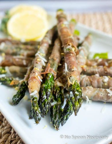 Roasted Prosciutto Wrapped Asparagus with Lemon-Herb Aioli