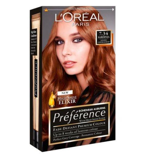 Loreal Preference Sardinia 7 34 Basically My Natural Colour Couleur Cheveux Blond Miel Cheveux Blond Miel L Oreal Paris