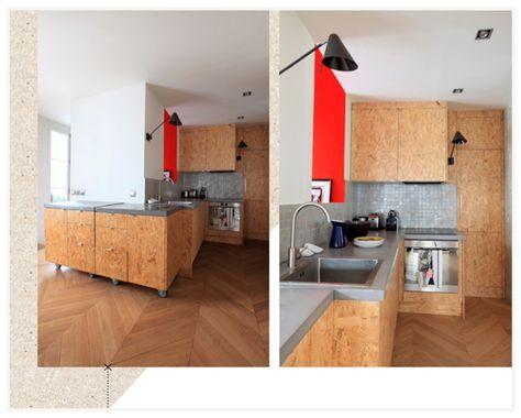 Schrankküche design  OSB kuchyně | OSB inspirace | Pinterest | Plywood, Workspace ...