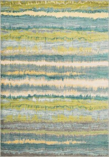 Lyon Teal Contemporary Striped Loloi Rug Hlz 15 219 The Rug Has