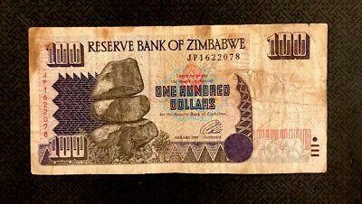 Zimbabwe 100 Dollars 1995 P 9 World Currency Ebay In 2020 Dollar Banknote 100 Dollar Dollar