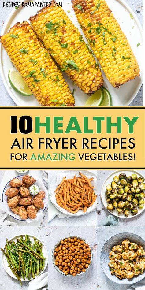 Tired of the same old boring and bland veggies? These 10 Amazing Air Fryer Vegetable Recipes are exactly what you've been looking for! With the air fryer, all it takes is just a few minutes and a tiny bit of oil to serve up totally crave-worthy veggies that are tender in the middle and delightfully crunchy on the outside. #airfryer #airfryerrecipes #healthyairfryerrecipes #airfryervegetables #eatyourveggies #airfried #air-fryer #vegetables #vegetablehacks