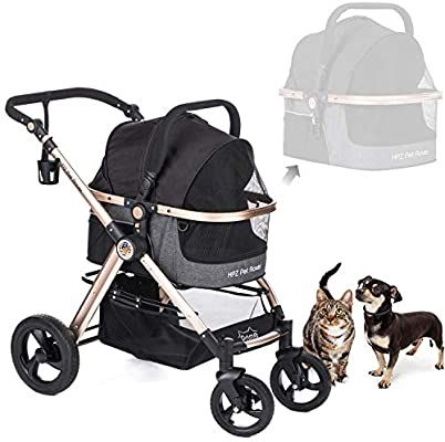 Amazon Com Hpz Pet Rover Prime 3 In 1 Luxury Dog Cat Pet Stroller Travel Carrier Car Seat Stroller With Detach Carrier Pump Free R Pet Stroller Dog Stroller Pet Carriers