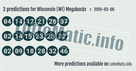 Wisconsin Wi Megabucks Lottery Predictions Pinterest Company