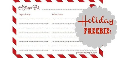 FREE Printable Recipe Cards | Printable recipe cards, At home and ...