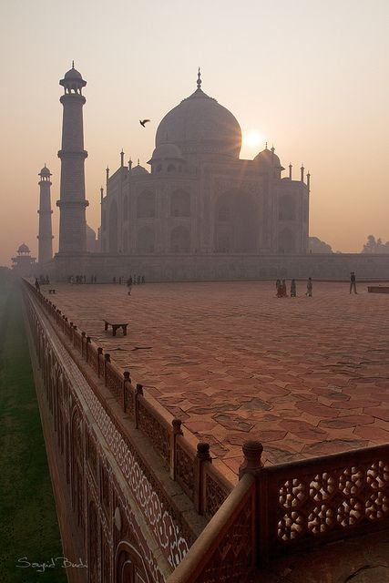 Taj Mahal ~ Agra City, India. Taj Mahal was constructed over a period of 22 years and completed in 1648 AD.