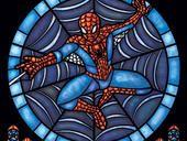 "Artist Marissa Garner designs window art featuring superheroes, robots and comic book villains. ""I would go to this church,"" fans say."