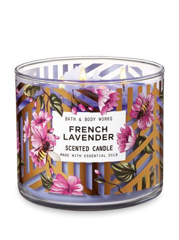 French Lavender 3 Wick Candle Bath And Body Works Bath Body Works Candles Spring Candles Scented Candles