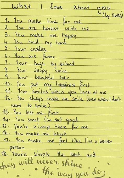 What I love about you.