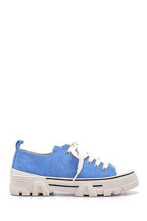 Beyaz Kadin Yuksek Tabanli Sneaker 20sfe193418 Derimod 2020 Sneaker Ayakkabilar Kadin